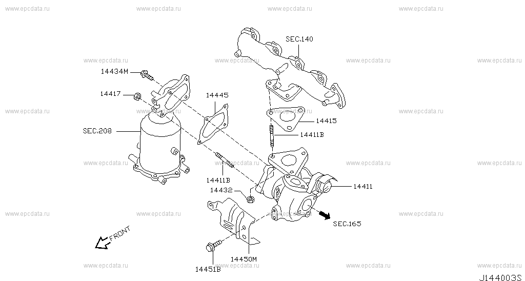 turbo charger na  trail  nissan  trail avtozapchasti